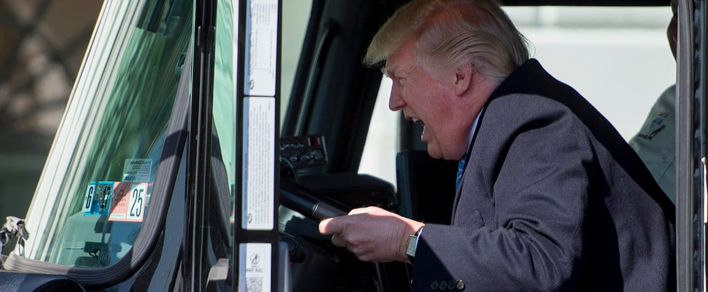 The Internet Made Donald Trump Pretending to Drive a Truck Into a Glorious Meme