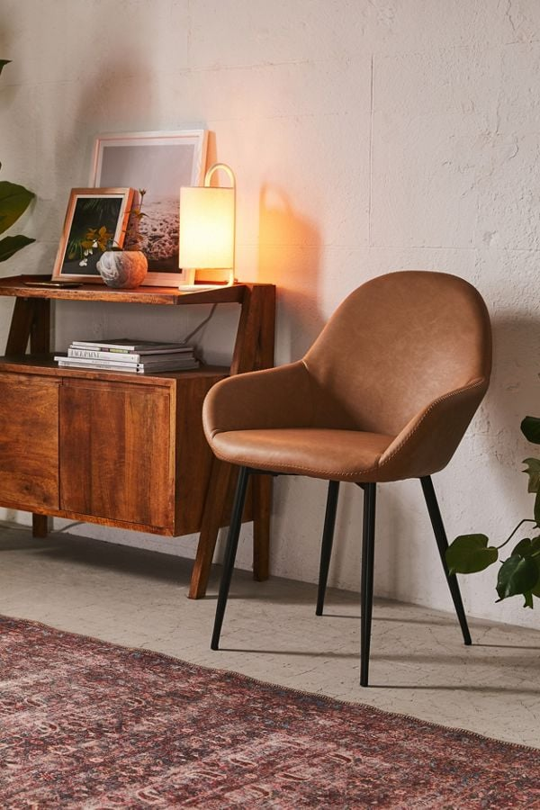 Remy Faux Leather Arm Chair