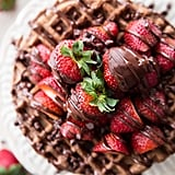 Whole Wheat Dark-Chocolate-Covered Strawberry Waffles