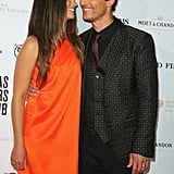 The couple kept close on the red carpet at a Dallas Buyers Club event in January 2014.