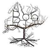 LED Light-Up Boo Black Wire Halloween Tree