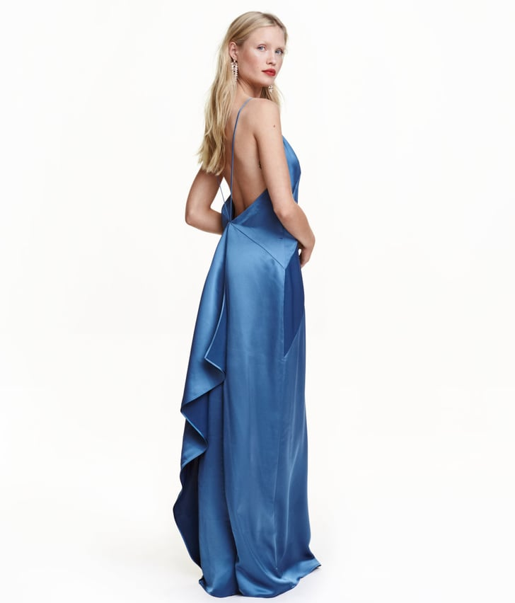H&M Long Satin Dress ($70)