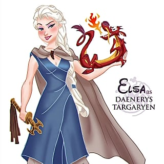 Disney Princesses as Game of Thrones Art