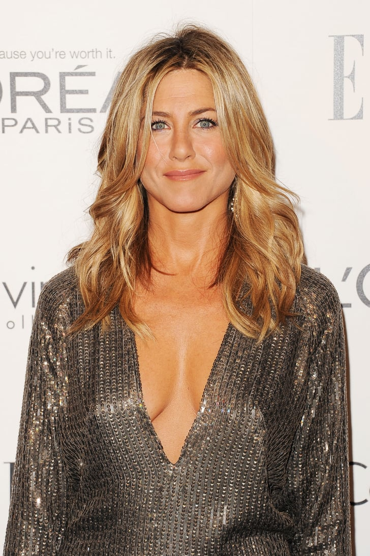 Jennifer Aniston In A Silver Dress Jennifer Aniston Low