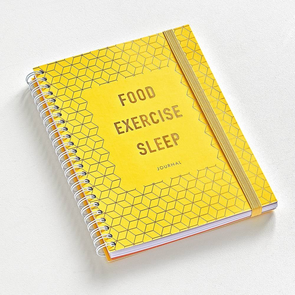papersource food exercise sleep wellness journal 2019 fitness