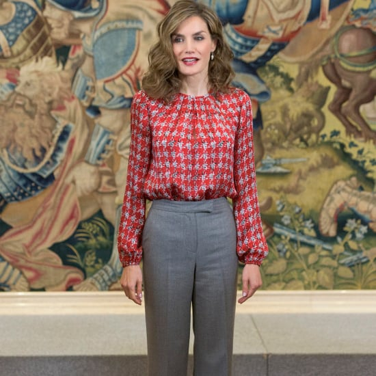 Queen Letizia Wearing a Repeat Carolina Herrera Blouse
