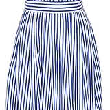 MDS Stripes Blue and White Cotton Striped Cross Back Dress ($495)