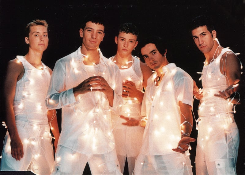 *NSYNC Wrapped in Christmas Lights