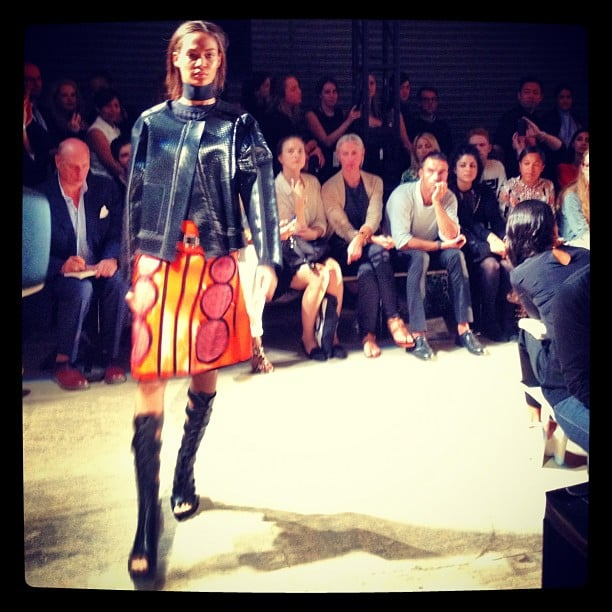 It was all about leather at Proenza Schouler.