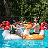 SCS Direct Chicken Fight Inflatable Pool Float Game Set