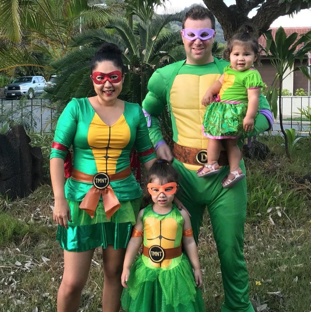teenage mutant ninja turtles | family of 4 halloween costumes