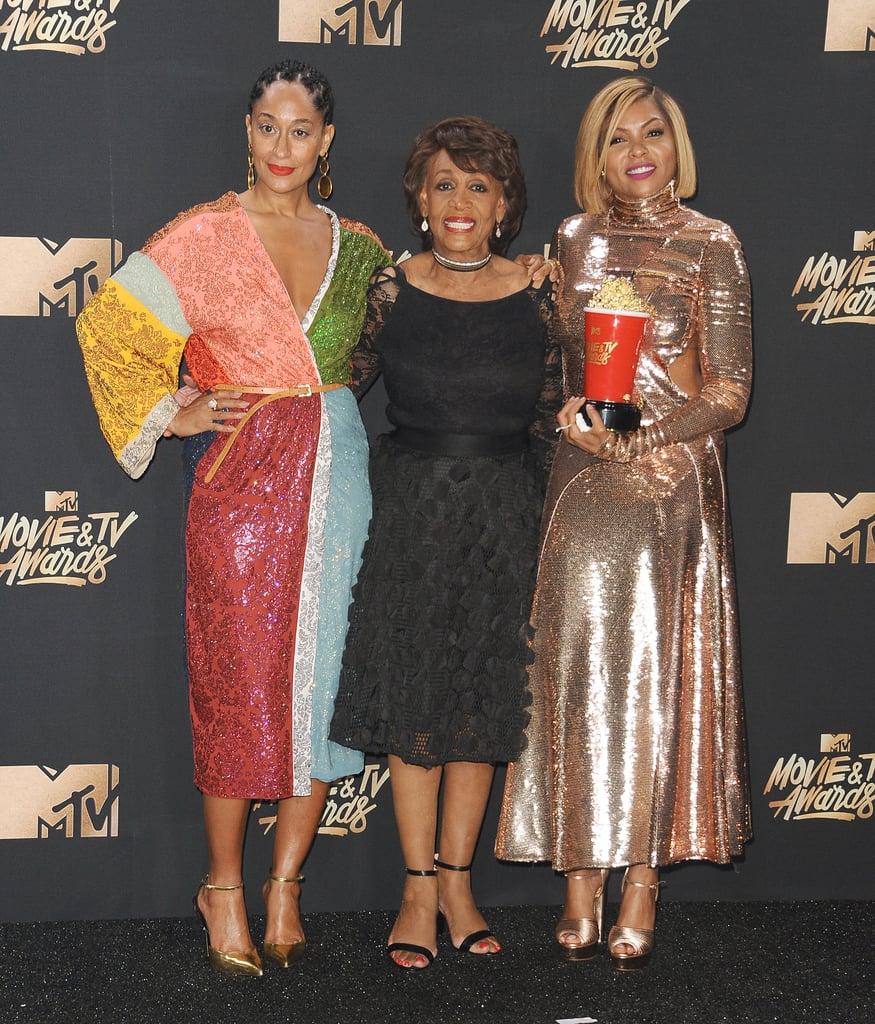 Tracee Ellis Ross, Maxine Waters, and Taraji P. Henson