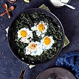 Vegetarian: Skillet Baked Eggs and Greens