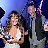 Lea Michele and Cory Monteith showed off their statues at the Do Something Awards.