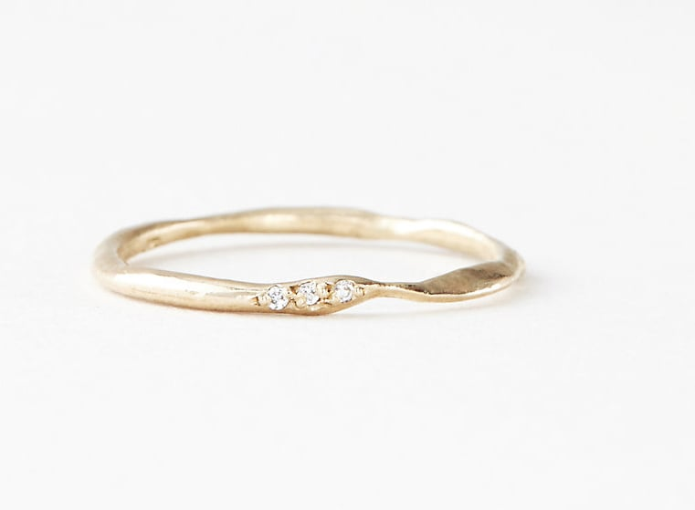 Gold Ring With Three Diamonds ($520)