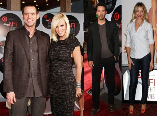 Cameron, Keanu, Jim and Jenny Join for a Night at the Movies