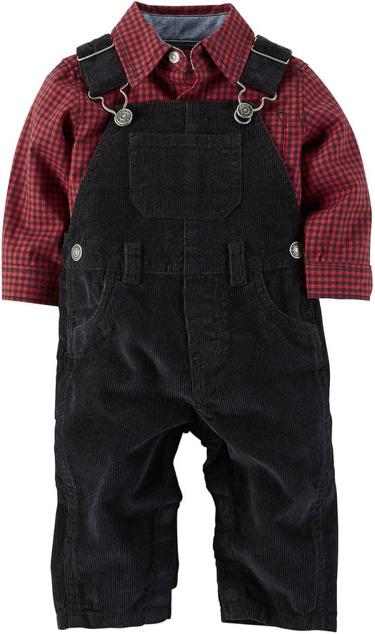 Carter's Flannel Shirt and Overalls