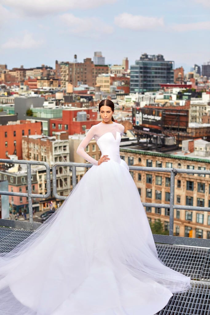 Rachel katzman vera wang wedding dress popsugar fashion this bride wore a princess wedding gown then stunned everyone with a beyonc junglespirit