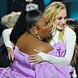 Sophie Turner and Lizzo at the 2019 VMAs