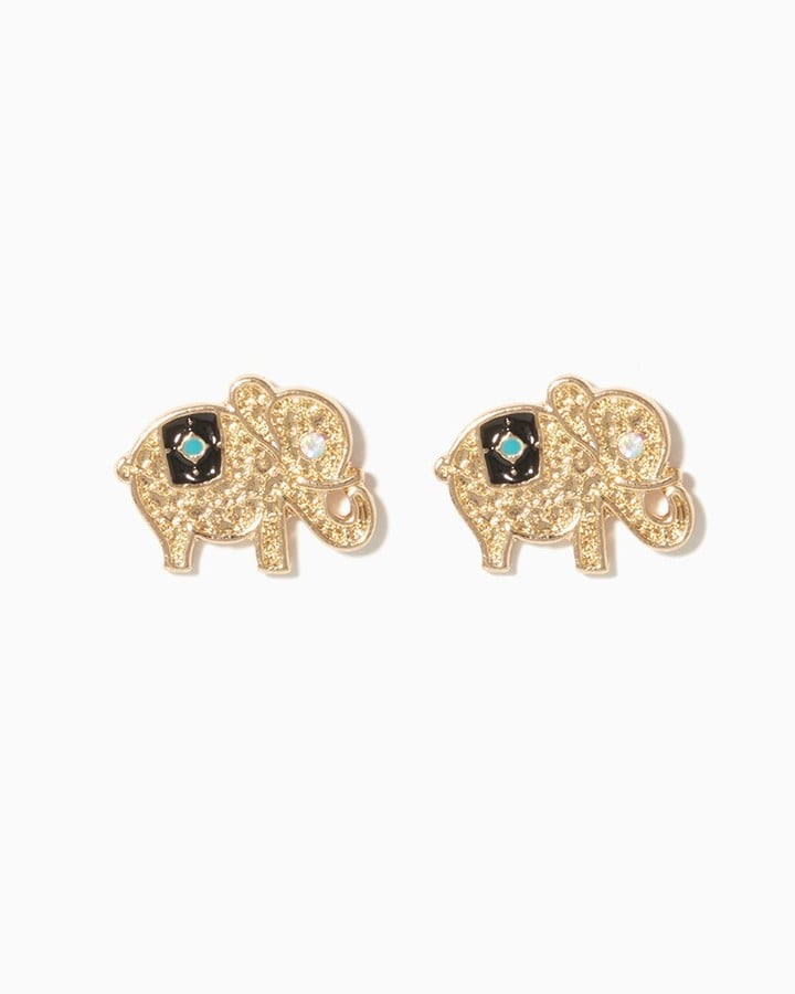 Charming Charlie Elephant Filigree Stud Earrings ($6)