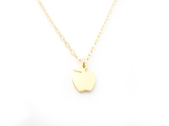 Tiny Apple Necklace