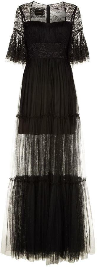 Sophia Kah Ruffled Tulle Gown