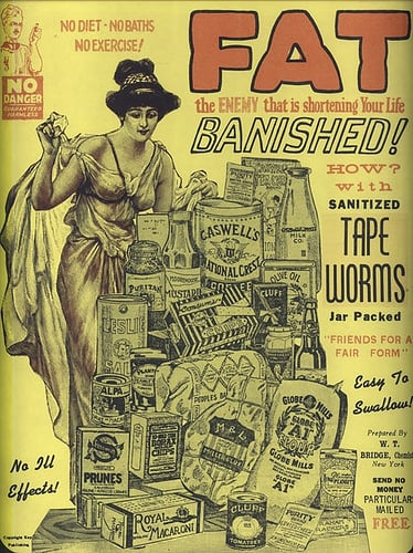 Flashback: Early 1900s Tapeworm Diet