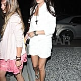 Camilla Belle wore white to party at the Neon Carnival.