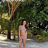 Lea Michele's Solid and Striped Bikini on Her Honeymoon 2019