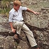 Prince Harry at Muick Falls