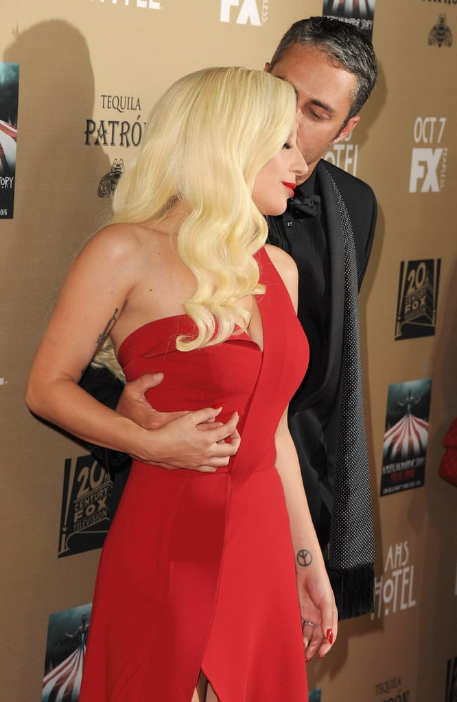Lady Gaga and Taylor Kinney at AHS Premiere   Pictures