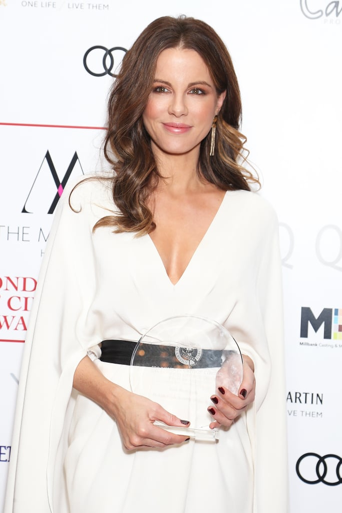 "It's very likely Kate Beckinsale had jaws hitting the floor at the London Critics' Circle Film Awards on Sunday night. The British actress rocked up to the fashionable evening in a gorgeous plunging gown that had us mouthing ""damn, girl."" Kate was awarded best British actress for Love & Friendship on the night and was joined by sartorially smart Naomie Harris, who took home supporting actress of the year for her work in Moonlight. Not only was it a fierce ladies' night with these two owning the carpet, but we're pretty sure they're sharing secrets on how to age backwards too. Anyone know what magical face cream they've got hidden away?       Related:                                                                                                           We Wanted to Be Kate Beckinsale 17 Years Ago, and We Still Do Now"