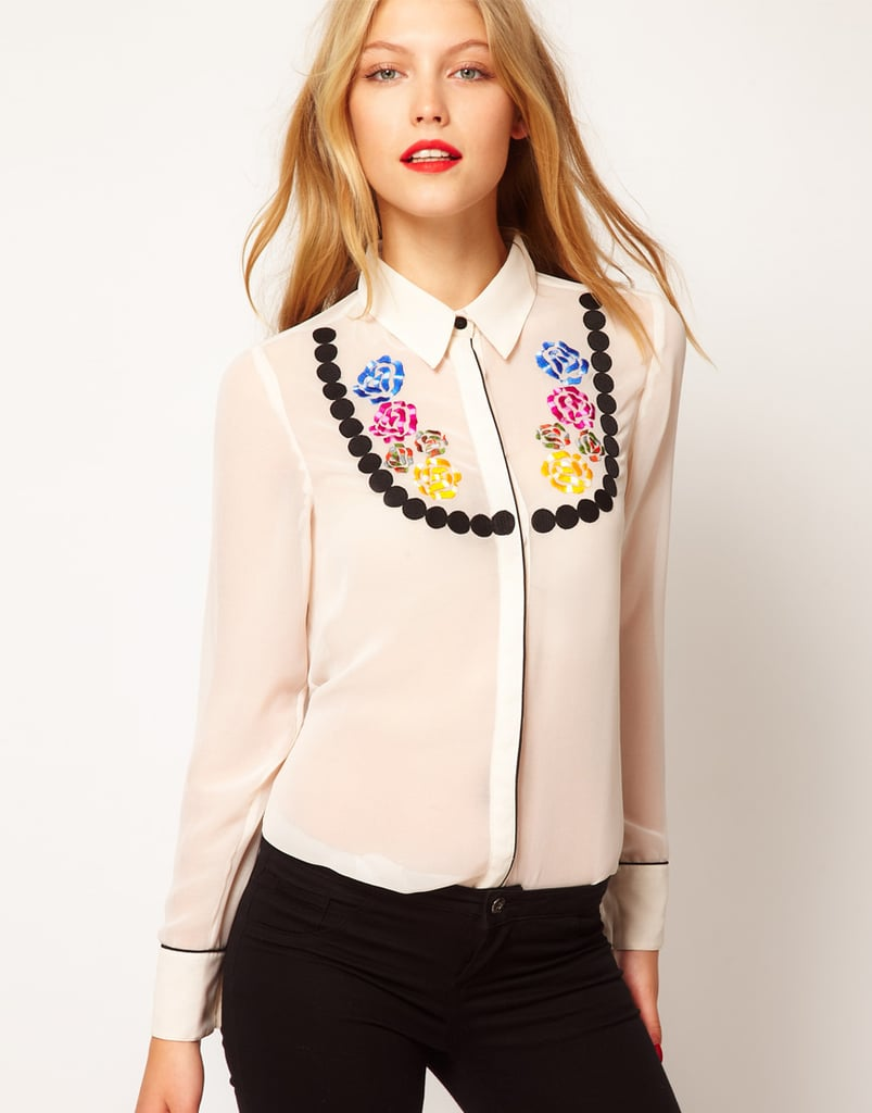 This buttoned-up top has a subtle Western vibe. ASOS Shirt With Embroidered Necklace ($68)