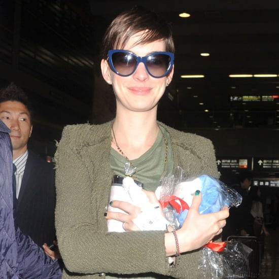 Anne Hathaway Arriving in Japan For Les Miserables Press