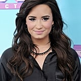 Demi Lovato wore a studded necklace.