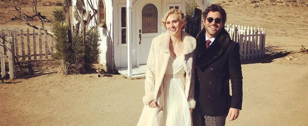 "Forget the Dress: This Actress Said ""I Do"" in the Most Glamorous Winter Coat"