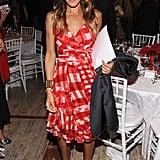 SJP's polka-dot Manolo Blahnik pumps lent a whimsical touch to her plaid Oscar de la Renta dress at a 2012 Couture Council soiree.