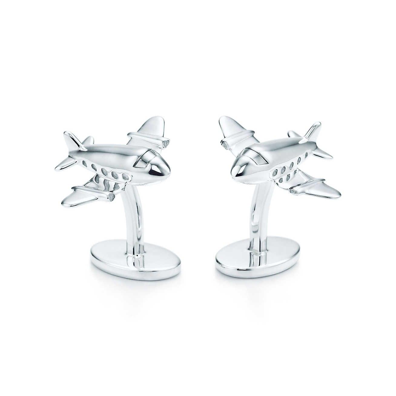 Deakin & Francis Sterling Silver Jet Cufflinks