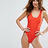 Playful Promises Cutout Red Swimsuit