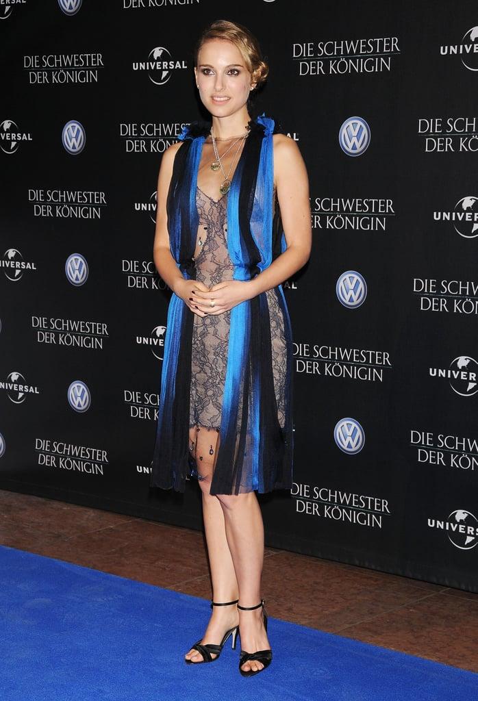 Natalie Portman in a Fringe-Detail Dress at the 2008 Berlin International Film Festival