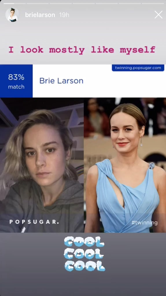 "Brie Larson's match is definitely ""cool, cool, cool!"""