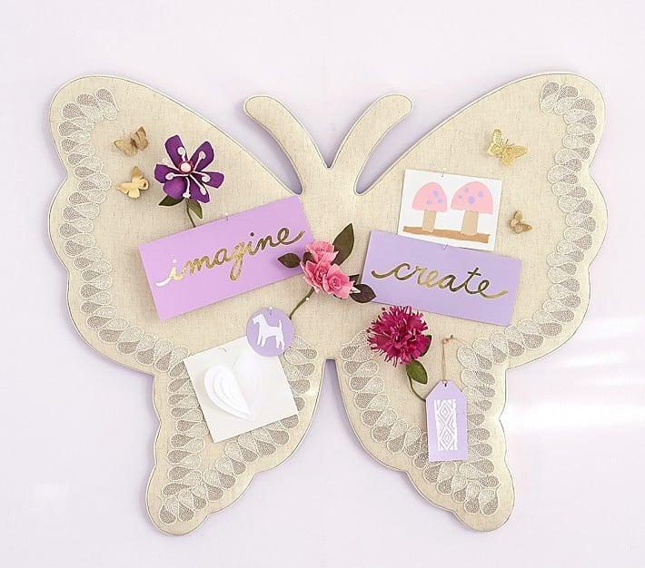 Pottery Barn Kids Butterfly Shaped Linen Pinboard