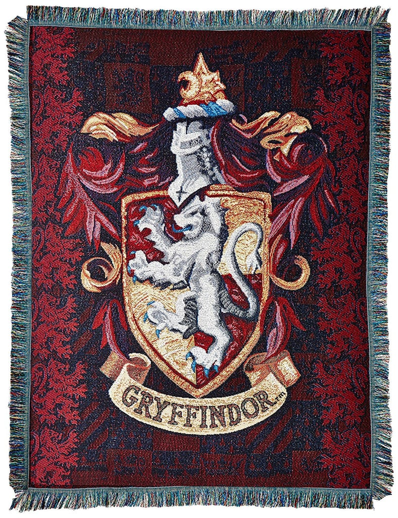 Gryffindor Shield Woven Tapestry Throw Blanket