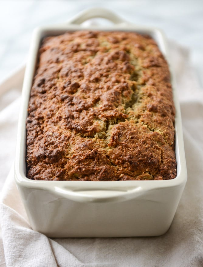 Almond Butter Roasted Banana Bread