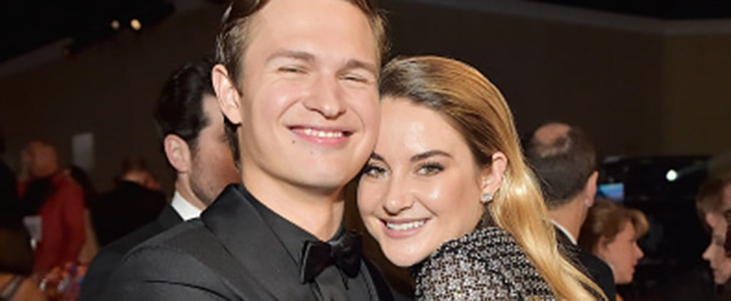 Shailene Woodley and Ansel Elgort at the Golden Globes 2018