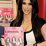 She signed autographs of her book Kardashian Konfidential at an LA Barnes & Noble store in December 2010.