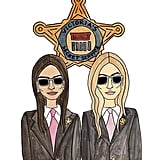 """Kendall and Gigi both Instagrammed this adorable illustration in support of one another. """"The best birthday present EVER! always been one of my biggest dreams to be on this catwalk. @victoriassecret 's newest recruits. oh and I get to do it with my best friend,"""" Kendall wrote on her snap. """"YESSS Newest Recruits,"""" Gigi wrote on her own 'gram."""