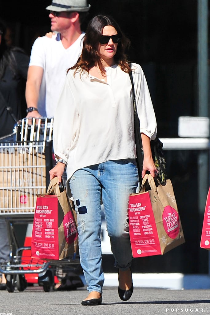 Drew Barrymore went shopping at Whole Foods.