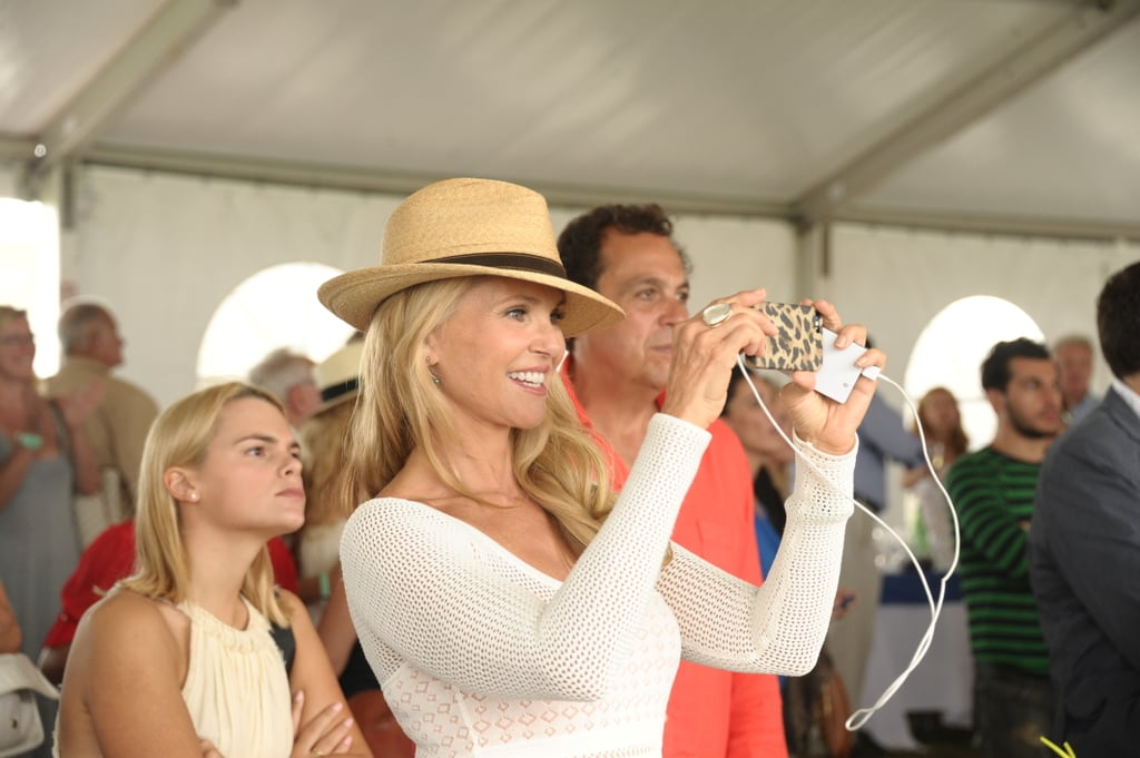 Christie Brinkley snapped photos at the Hampton Classic.