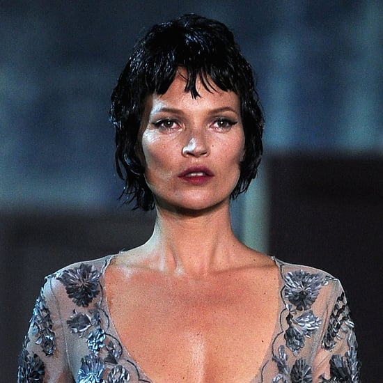Kate Moss Walking at Louis Vuitton Fall 2013